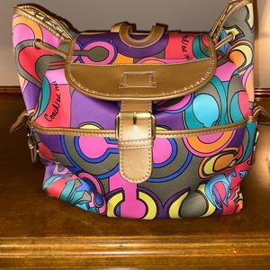 Coach brand large backpack multicolor